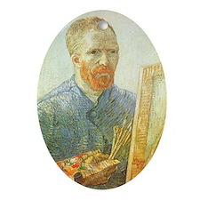 Van Gogh Self Portrait Ornament (Oval)