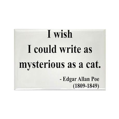 Edgar Allan Poe 6 Rectangle Magnet (100 pack)