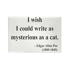 Edgar Allan Poe 6 Rectangle Magnet (10 pack)