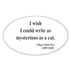 Edgar Allan Poe 6 Oval Decal