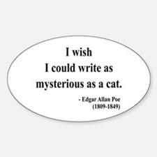 Edgar Allan Poe 6 Oval Decal