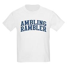 Ambling Rambler Nickname Collegiate Style T-Shirt