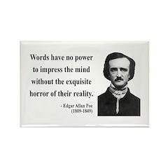 Edgar Allan Poe 8 Rectangle Magnet (100 pack)