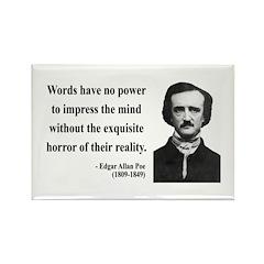 Edgar Allan Poe 8 Rectangle Magnet