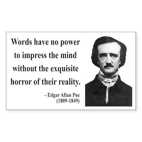 Edgar Allan Poe 8 Rectangle Sticker