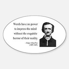 Edgar Allan Poe 8 Oval Decal