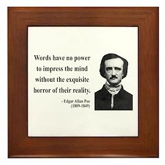 Edgar Allan Poe 8 Framed Tile