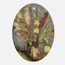 Van Gogh Vase with Gladioli Ornament (Oval)
