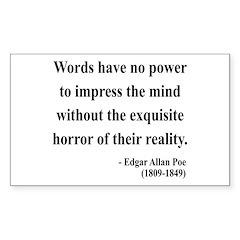 Edgar Allan Poe 8 Rectangle Decal