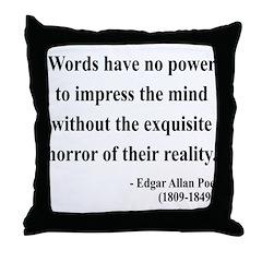 Edgar Allan Poe 8 Throw Pillow