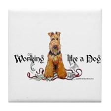 Working Airedale Terrier Tile Coaster