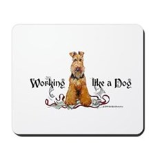 Working Airedale Terrier Mousepad