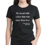 Edgar Allan Poe 9 Women's Dark T-Shirt