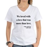 Edgar Allan Poe 9 Women's V-Neck T-Shirt