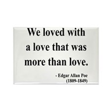 Edgar Allan Poe 9 Rectangle Magnet (100 pack)