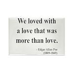 Edgar Allan Poe 9 Rectangle Magnet (10 pack)