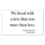 Edgar Allan Poe 9 Rectangle Sticker