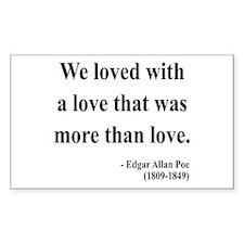 Edgar Allan Poe 9 Rectangle Decal