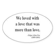 Edgar Allan Poe 9 Oval Decal