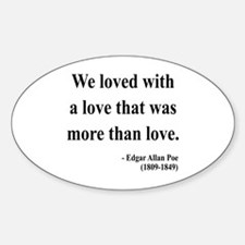 Edgar Allan Poe 9 Oval Decal