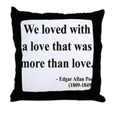 Edgar Allan Poe 9 Throw Pillow