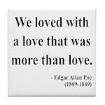Edgar Allan Poe 9 Tile Coaster