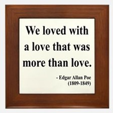 Edgar Allan Poe 9 Framed Tile