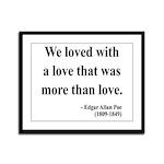 Edgar Allan Poe 9 Framed Panel Print