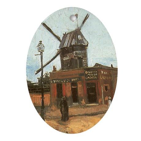 Van Gogh Le Moulin Oval Ornament