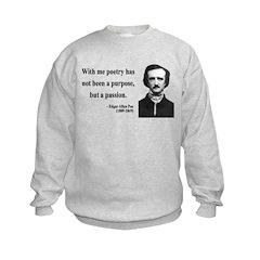 Edgar Allan Poe 10 Kids Sweatshirt