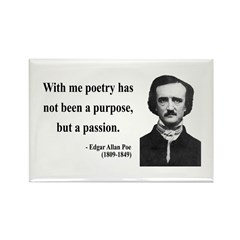 Edgar Allan Poe 10 Rectangle Magnet (100 pack)
