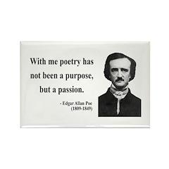 Edgar Allan Poe 10 Rectangle Magnet (10 pack)