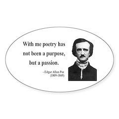 Edgar Allan Poe 10 Oval Decal