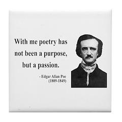 Edgar Allan Poe 10 Tile Coaster