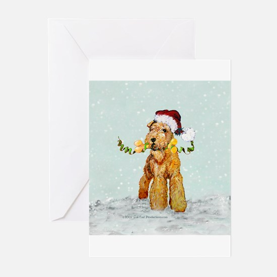 Winter Airedale Greeting Cards (Pk of 20)
