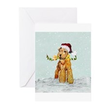 Winter Airedale Greeting Cards (Pk of 10)