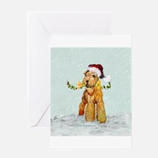 Winter Airedale Greeting Card