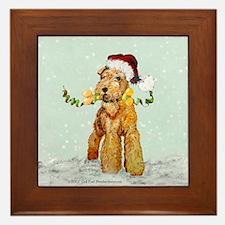 Winter Airedale Framed Tile