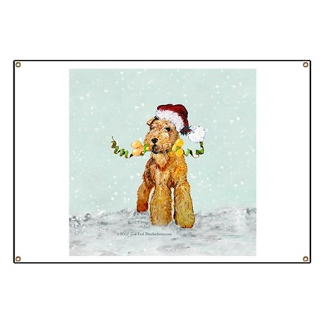 Winter Airedale Banner