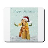 Airedale christmas Mouse Pads