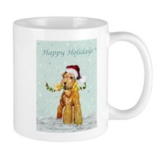 Winter Airedale Mug