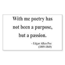 Edgar Allan Poe 10 Rectangle Decal