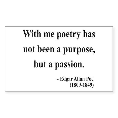 Edgar Allan Poe 10 Rectangle Sticker