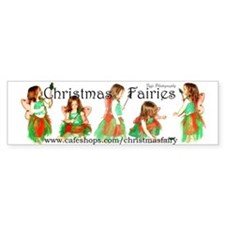 Christmas Fairies Bumper Bumper Sticker
