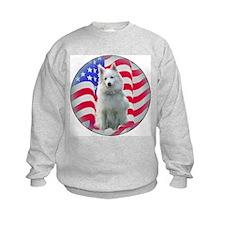 American Eskimo with flag Sweatshirt