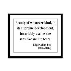 Edgar Allan Poe 11 Framed Panel Print