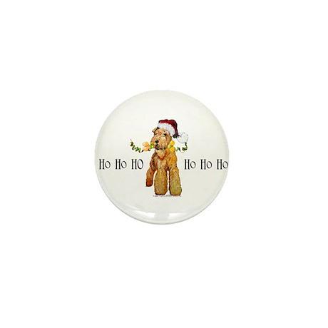 Santa Airedale Terrier Mini Button (10 pack)
