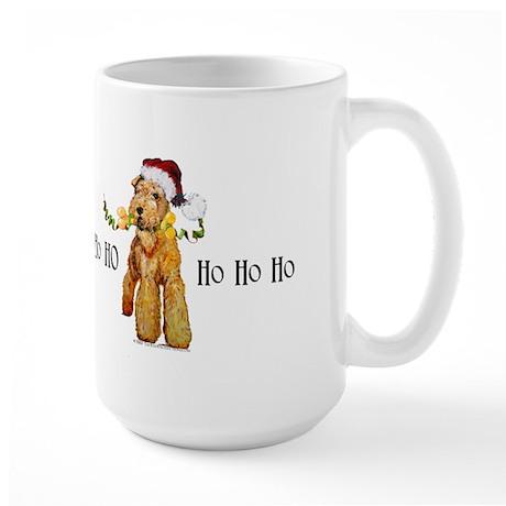 Santa Airedale Terrier Large Mug
