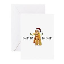 Santa Airedale Terrier Greeting Cards (Pk of 20)