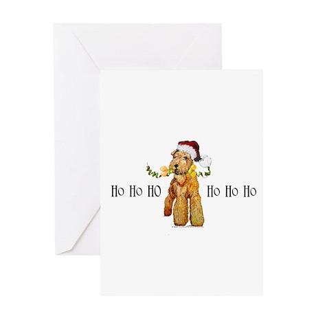 Santa Airedale Terrier Greeting Card